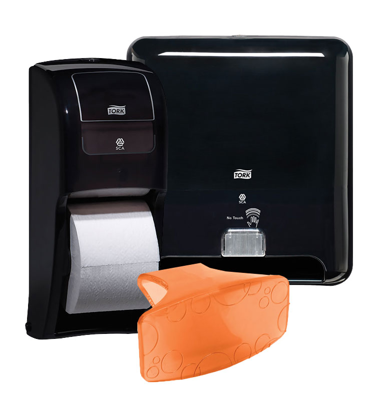 Washroom products, toilet paper, airless dryer