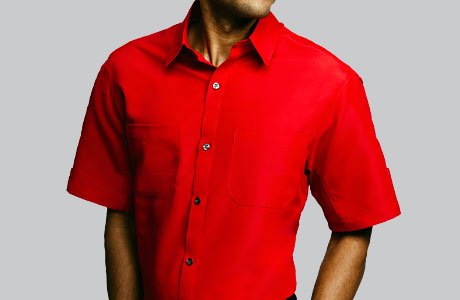 Mens Flex Fit Rip Stop Shirt - RED